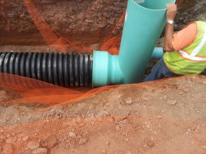Timewell PVC Drain Basin Construction