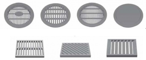 Drainage structure PVC inlet grate