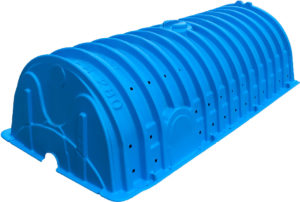 Plastic corrugated Stom Water Chamber recharger-280hd-angled-left-white-stripe-blue_RT-2